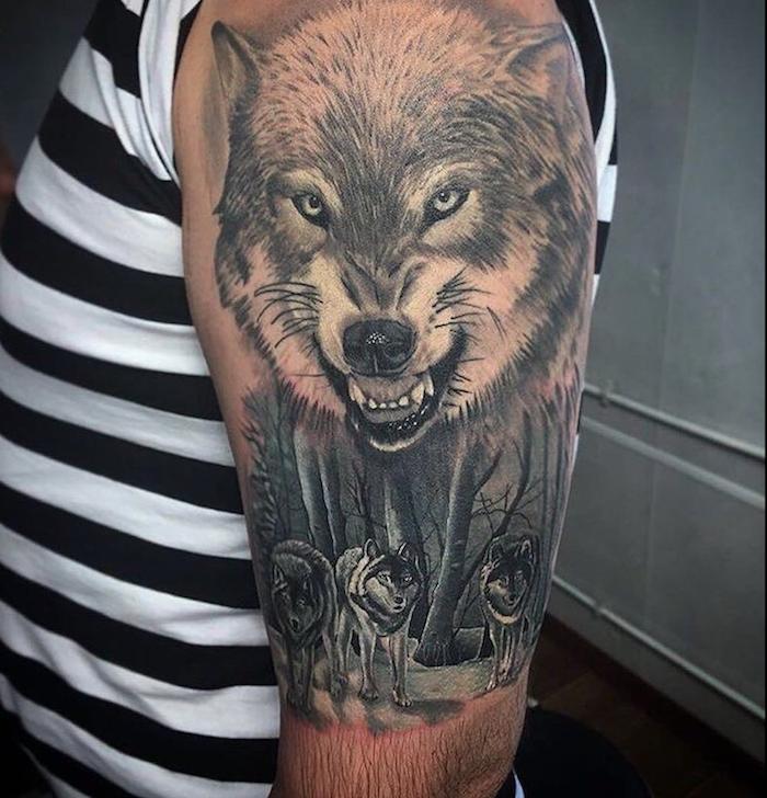 Татуировка волка фото и значение