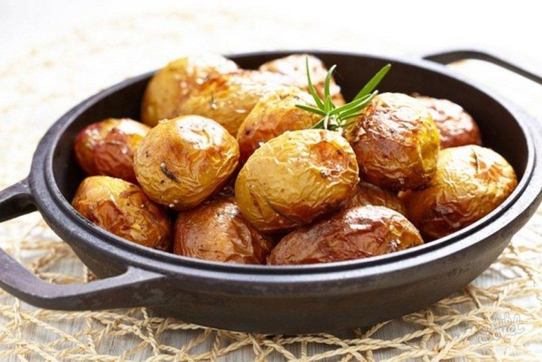как запечь в духовке картошку в мундире