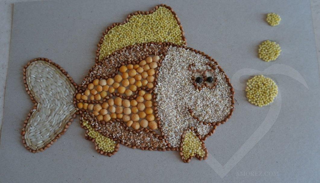 Смешные, открытка из семян