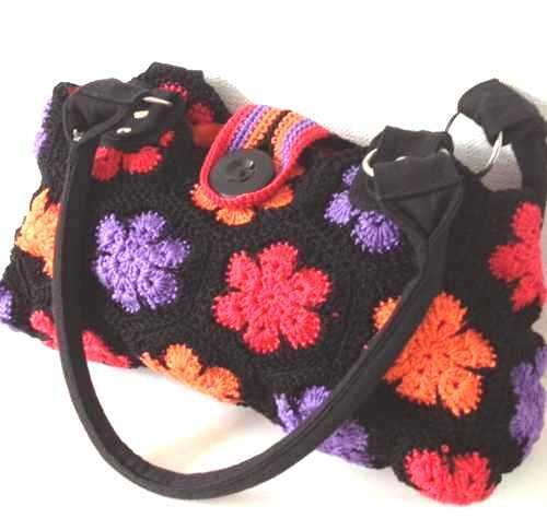 f9a819529282 Работы участниц Вязаные сумки крючком из мотивов