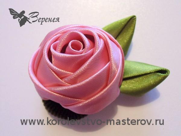 Розы из лент своими руками мастер класс фото 331