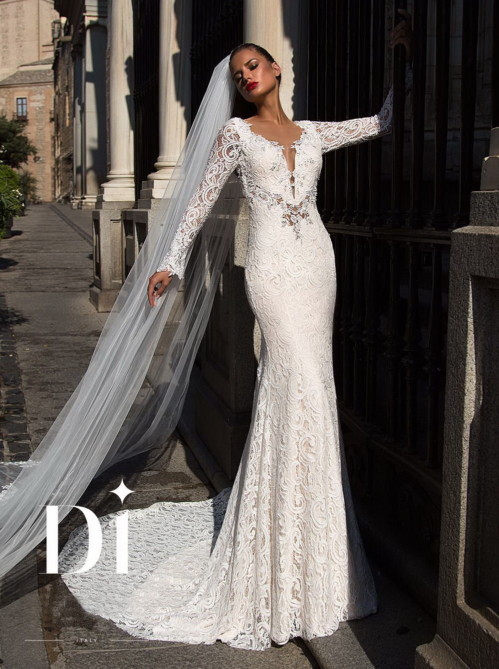 a222414bdab Кружевное свадебное платье рыбка с длинным рукавом» — карточка ...