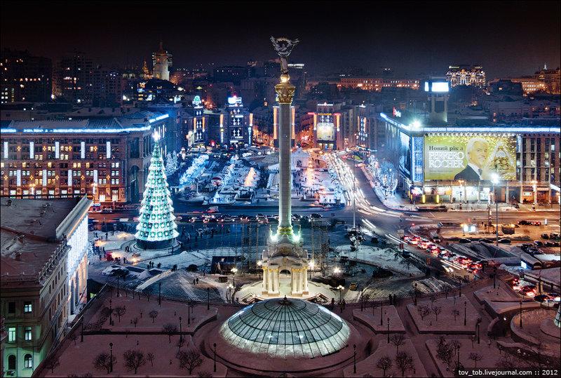 Празднования Нового года в Киеве