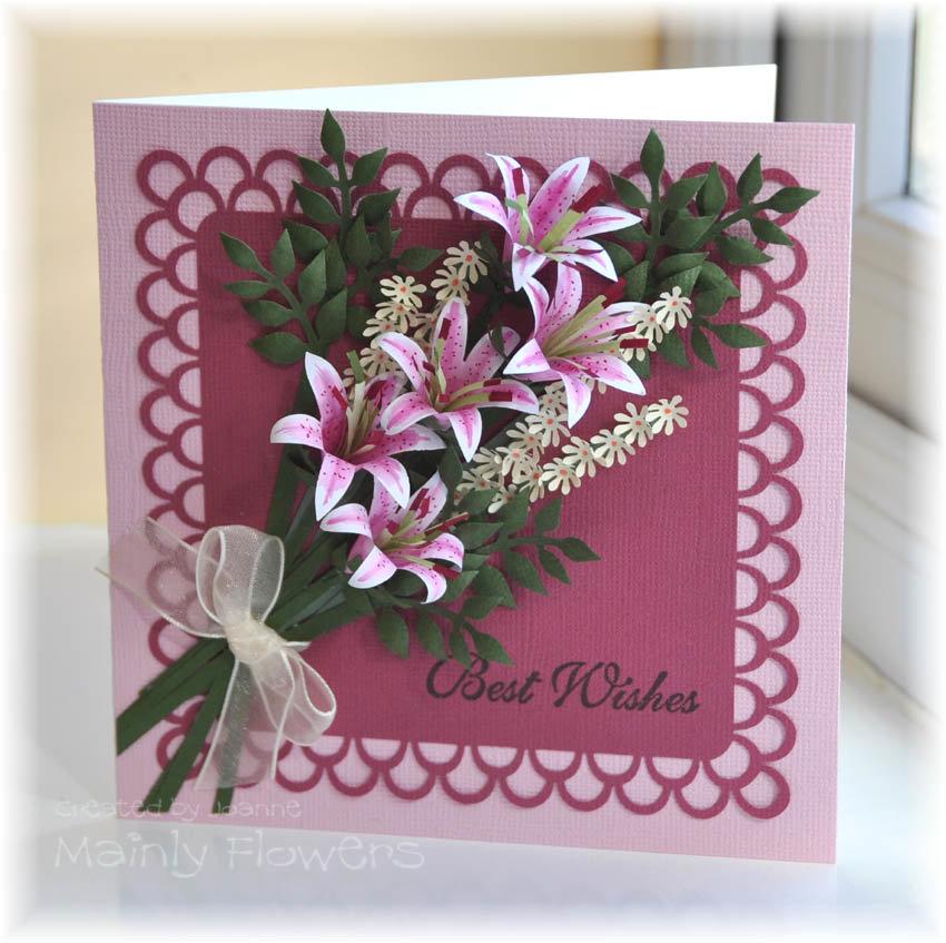 Открытка своими руками букет цветов