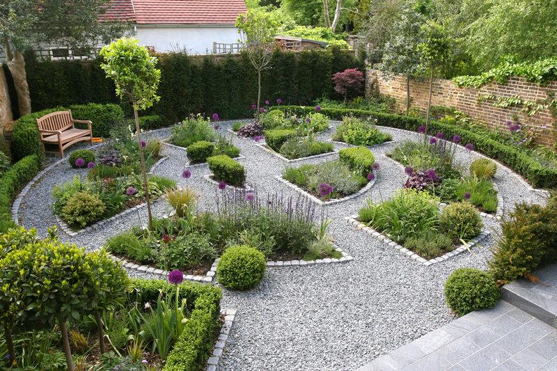 Гравийные сады ландшафтный дизайн