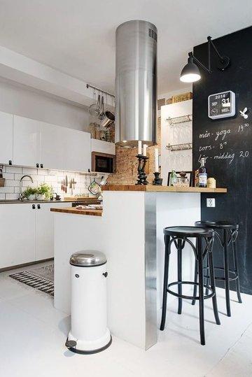 маленькая кухня в стиле лофт с барной стойкой это хороший вариант