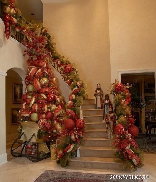 Роскошное украшение лестницы
