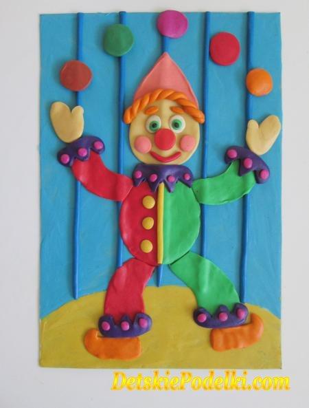 Детские поделки клоуна
