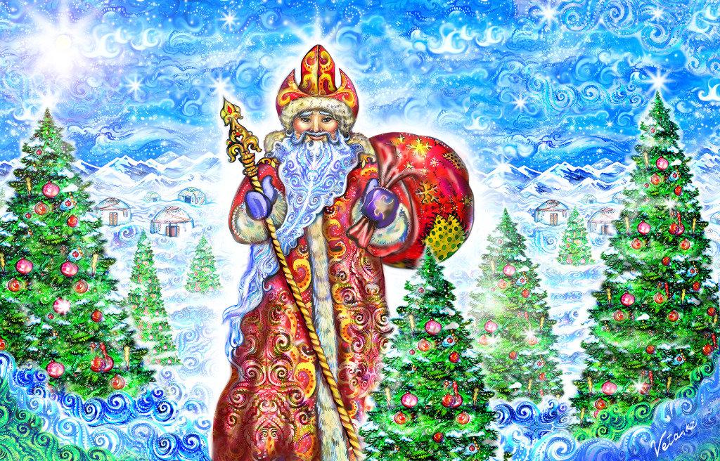 Интеллектуальной собственности, новогодняя открытка казахстан