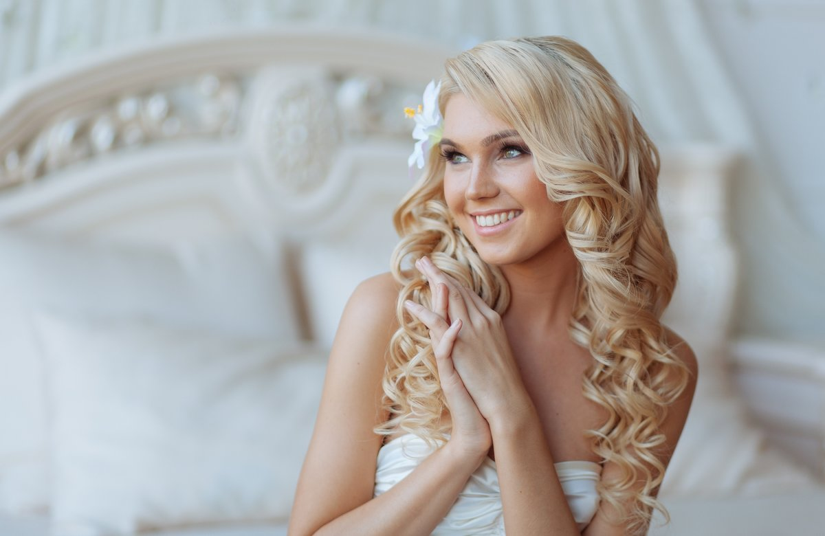 фото блондинок свадебные прически для