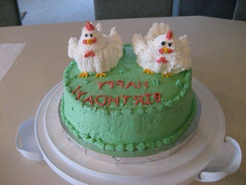 торт с курочками