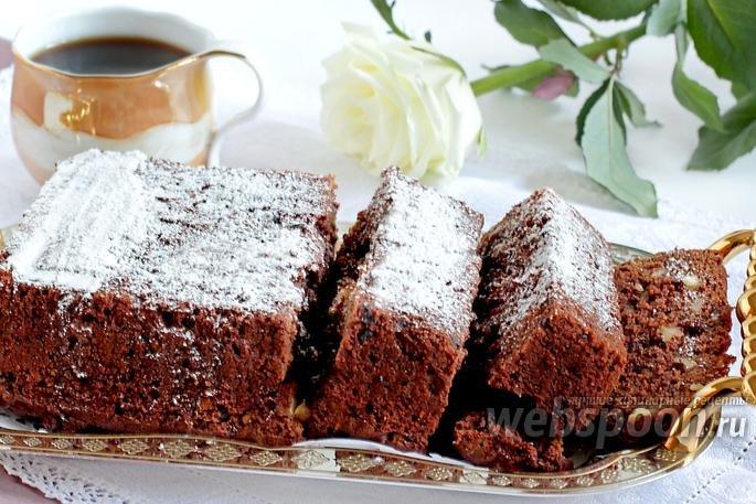 Брауни с грецкими орехами рецепт с фото