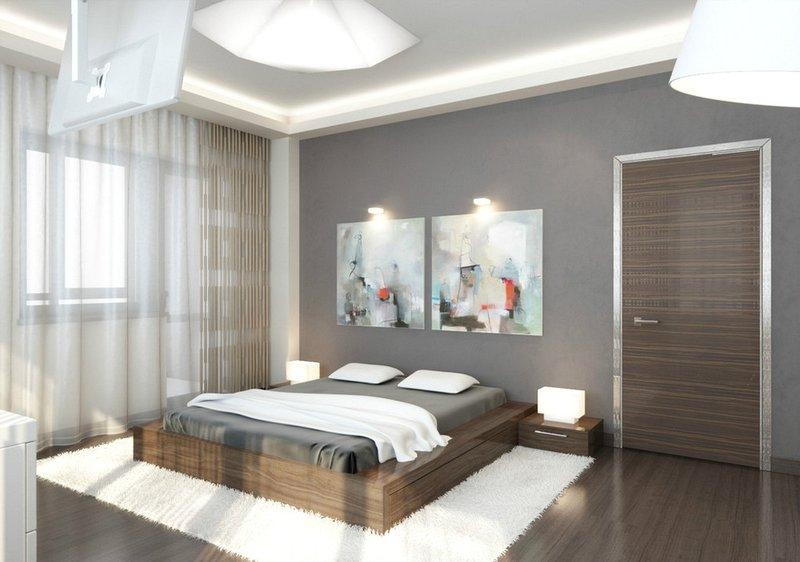 минимализм спальня дизайн фото