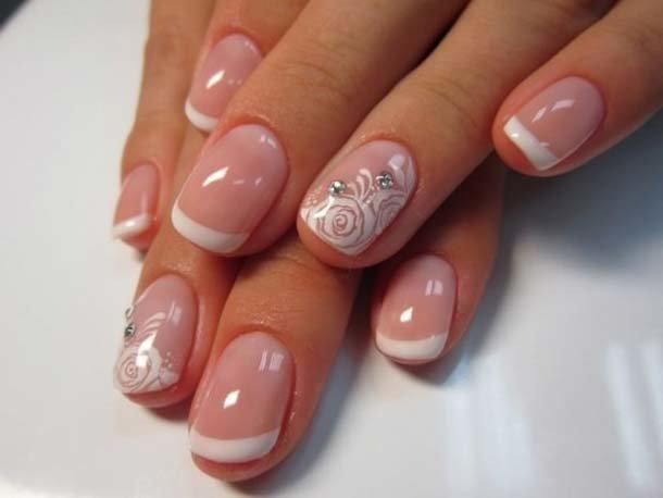 Фото гель лака на коротких ногтях френч