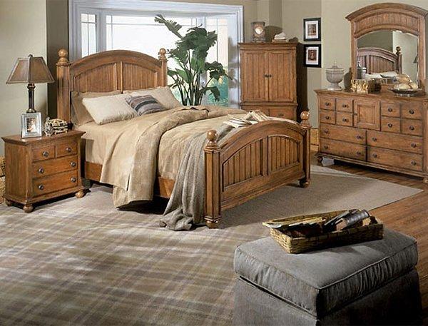 Спальня в стиле кантри очень симпатично