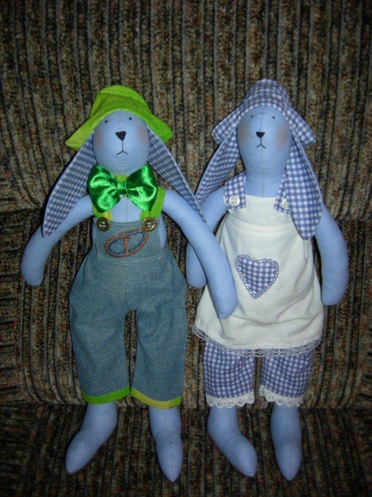 Пара кроликов тильда мальчик и девочка