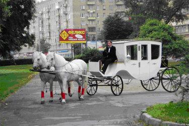 яндекс карета с лошадьми