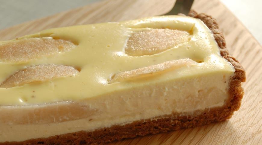 пирог с грушами и творогом рецепт с фото