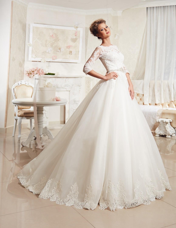 свадебные закрытые платья фото