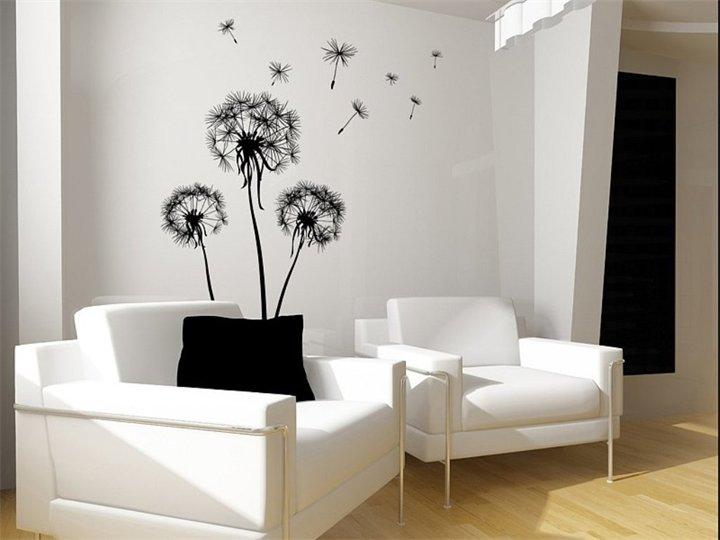 кого будешь рисунки черно белые на стене в квартире своими руками фото украсить
