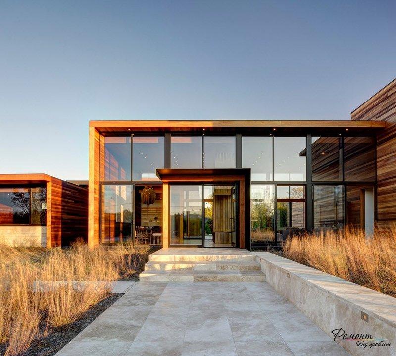 Красивый и необычный дизайн домов, выполненных из стекла.