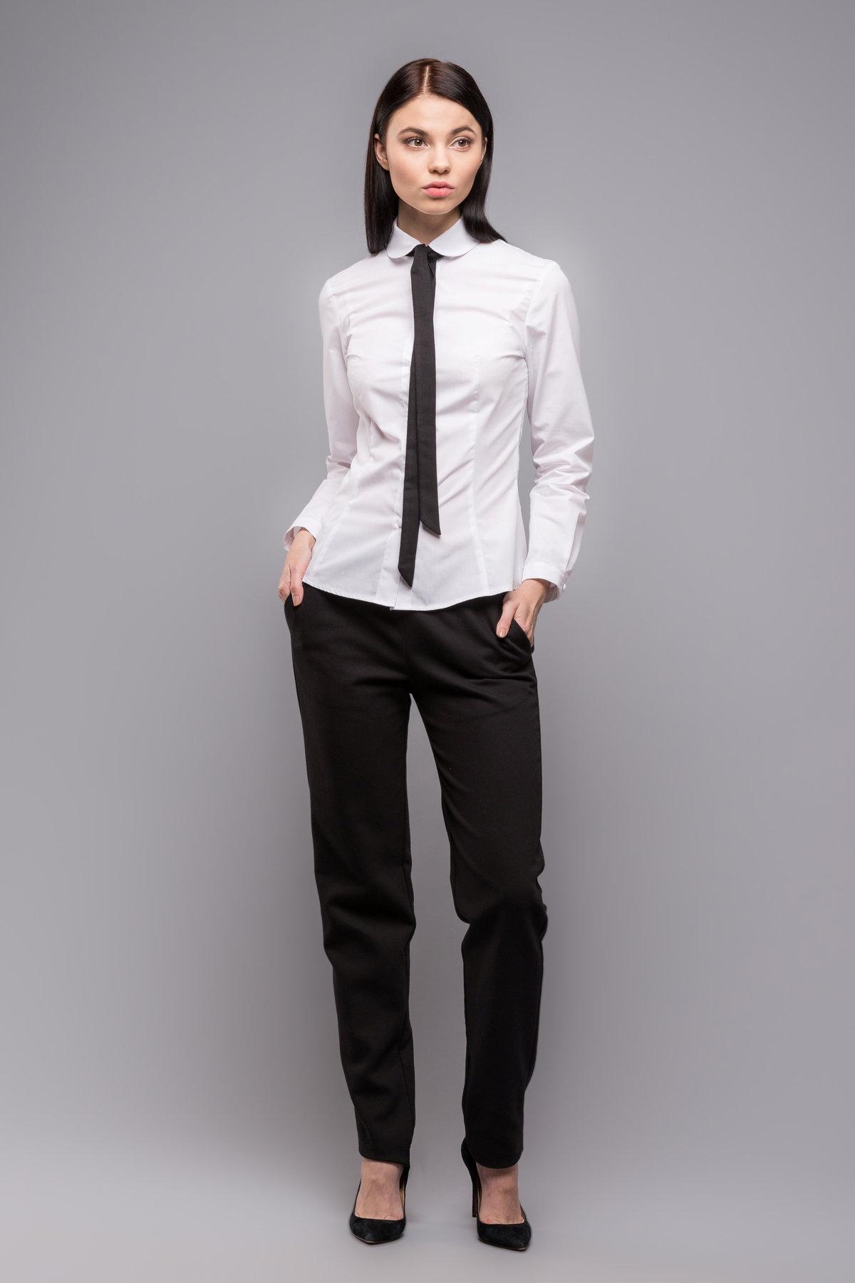 f64e23fb662 Галстук женский черный с белой рубашкой Галстук женский черный с белой  рубашкой