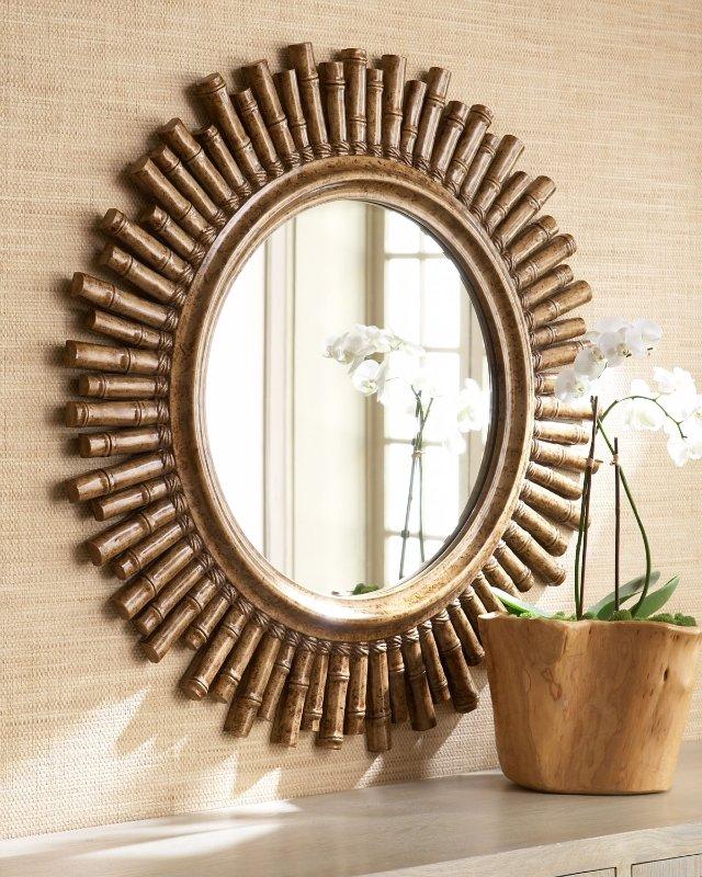 Бамбуковая рамка зеркала