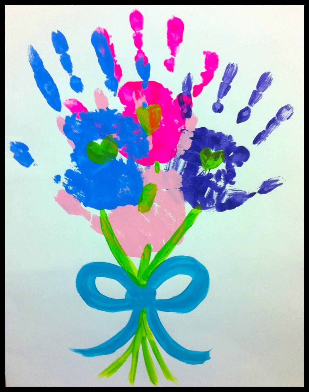Анимационные, открытка цветок из ладошек