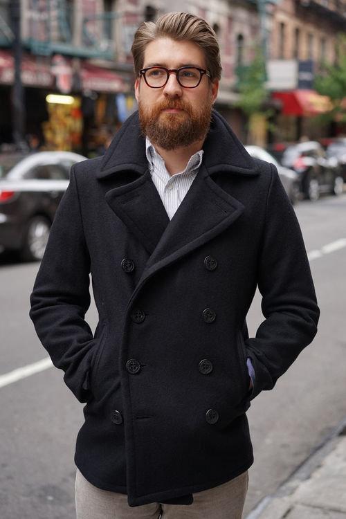 мужское пальто короткое фото