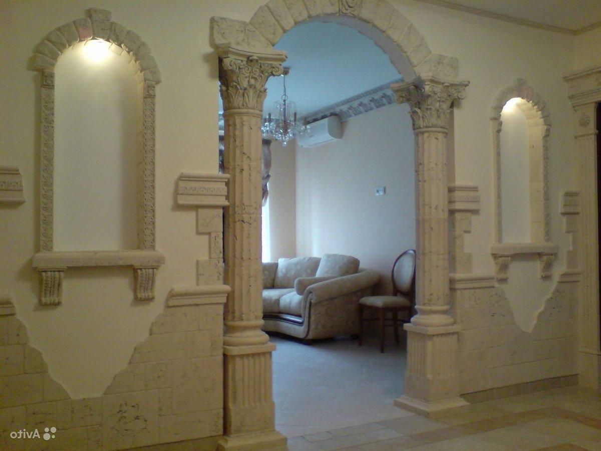 Отделка арки декоративным камнем (42 фото): как отделать арк.
