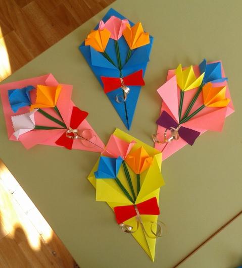 Открытка оригами ко дню матери своими руками