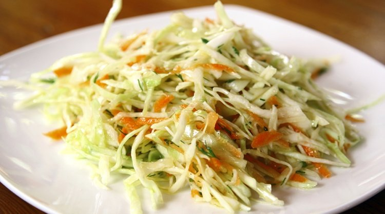 салат капуста с морковью рецепт с фото