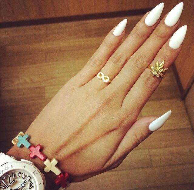 ногти миндалевидные фото