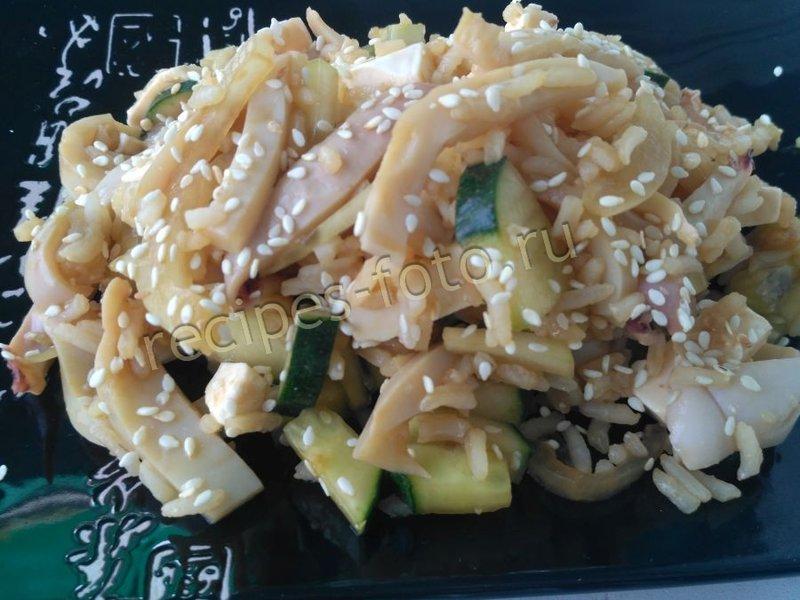 как приготовить вкусный салат из кальмар