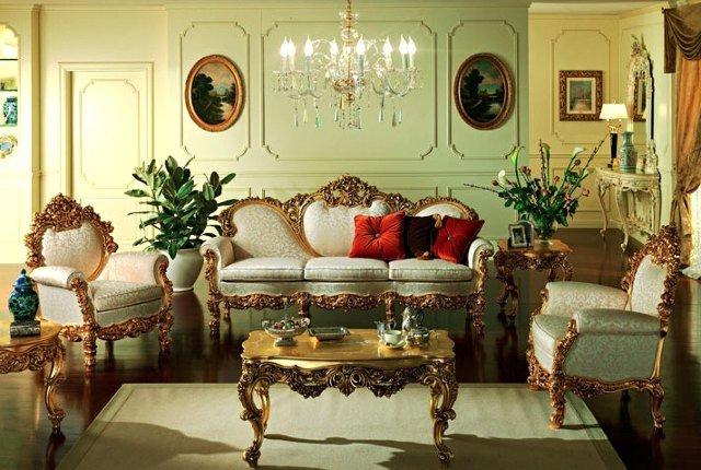 Фото: Интерьер гостиной в стиле ампир