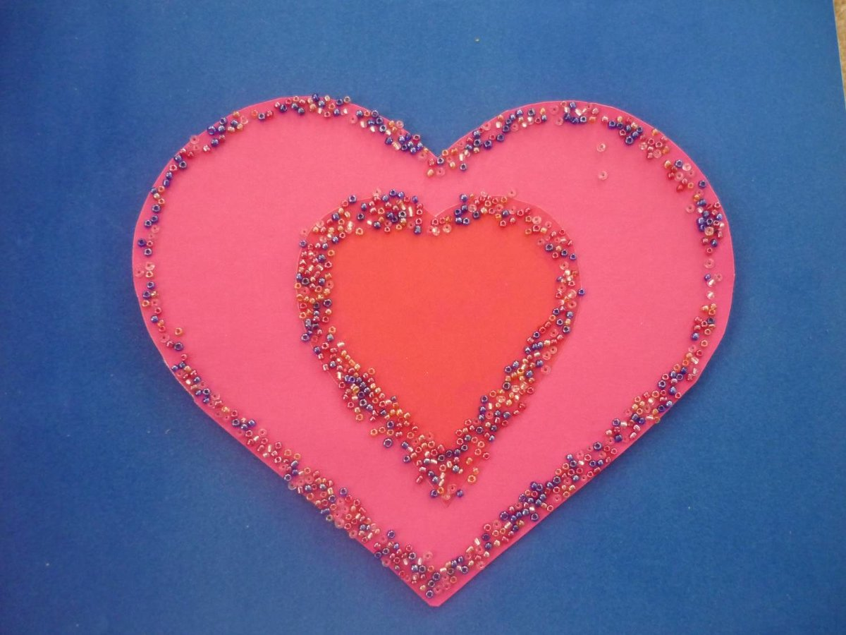 Открытка сердечко для детей