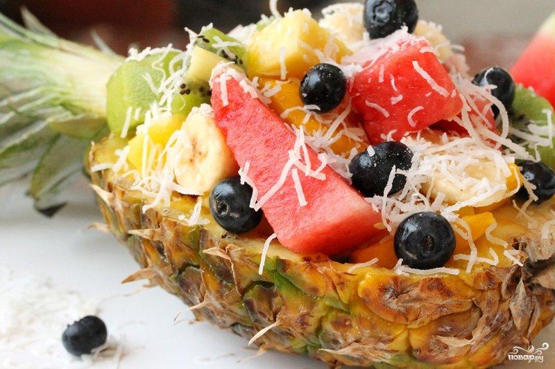 Фруктовый салат рецепт с фото