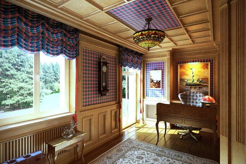 Классический кабинет в частном доме