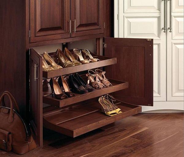 Шкаф обувной натуральное дерево