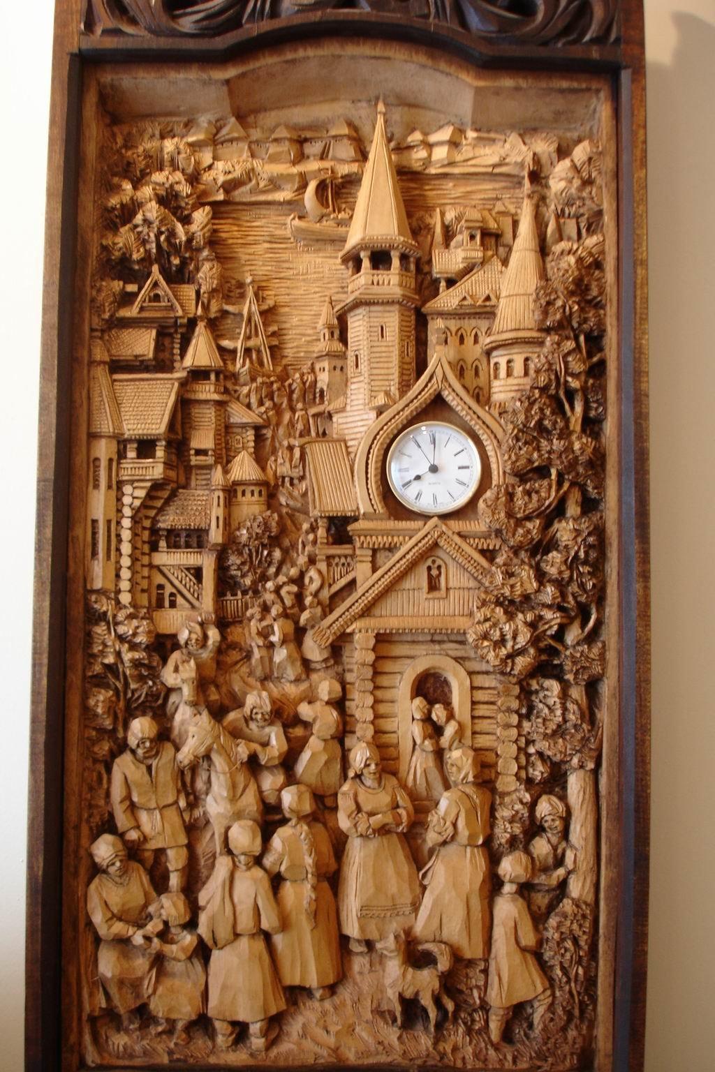 декоративно прикладное искусство резьба по дереву при