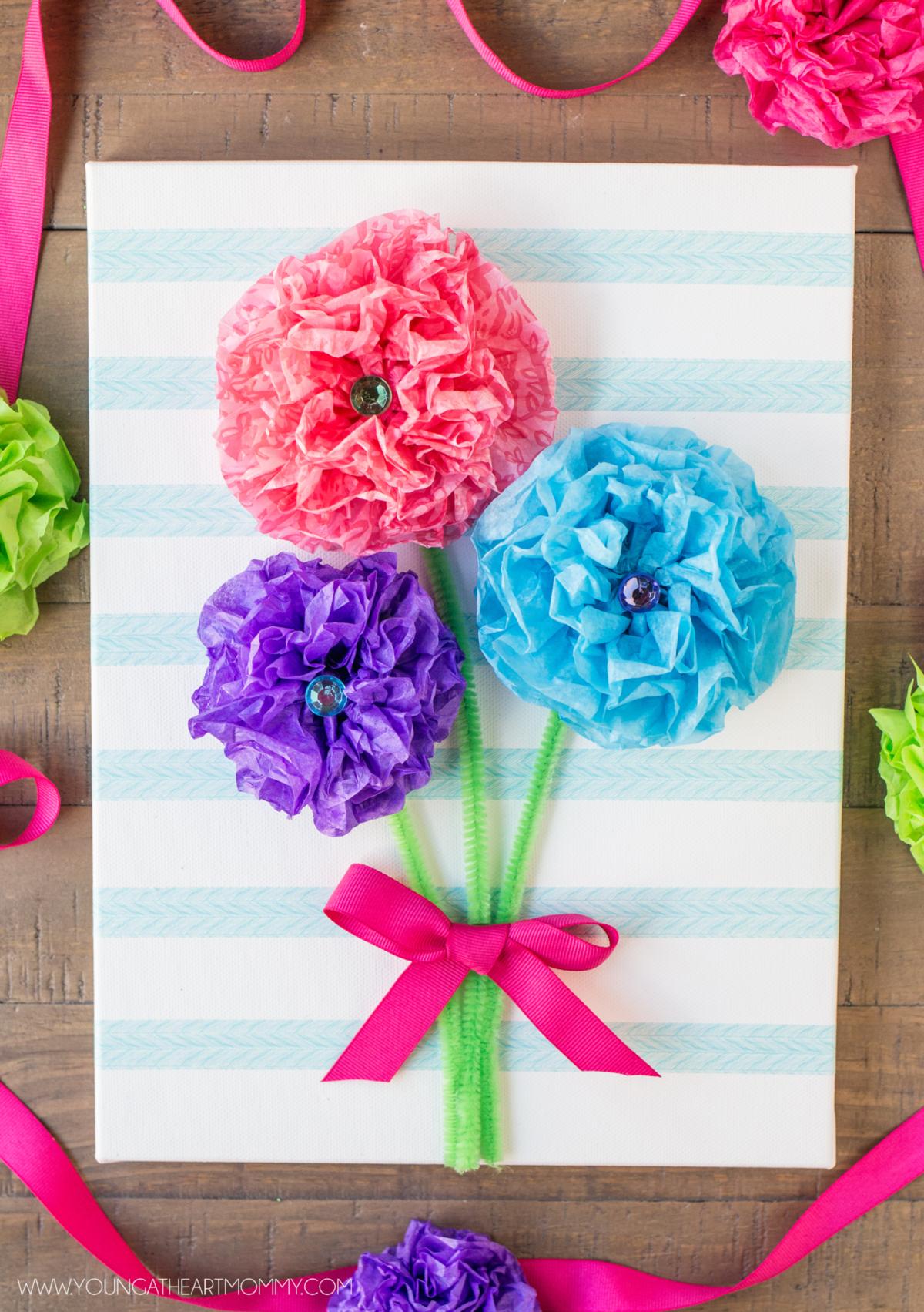 Сделать, как делать цветы на открытку своими руками