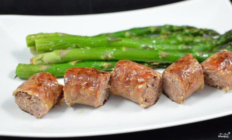 Рецепт: Домашние колбаски