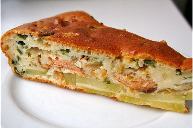 Заливной пирог картошкой рецепт с фото