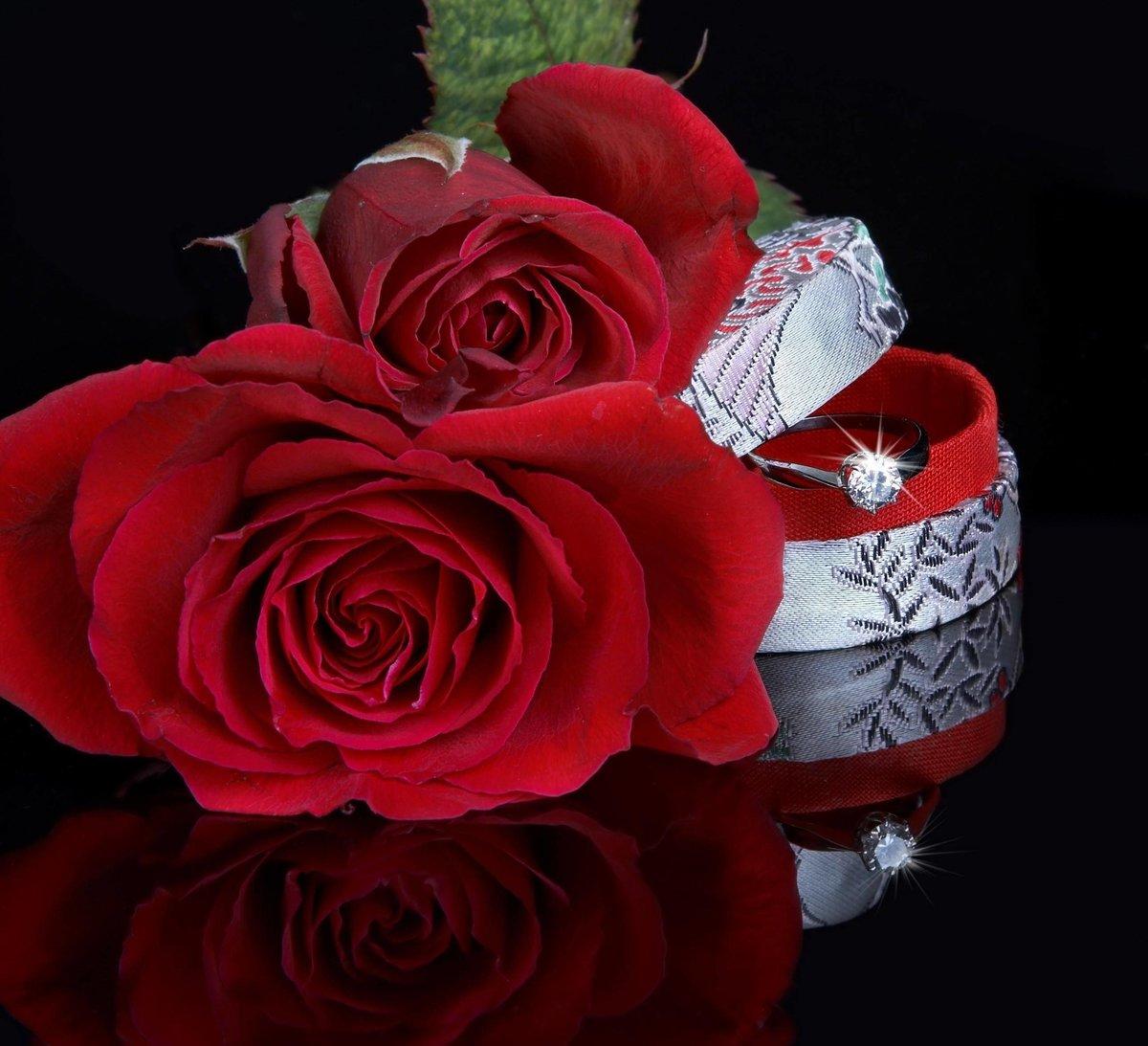 Любовные картинки с надписями и розами