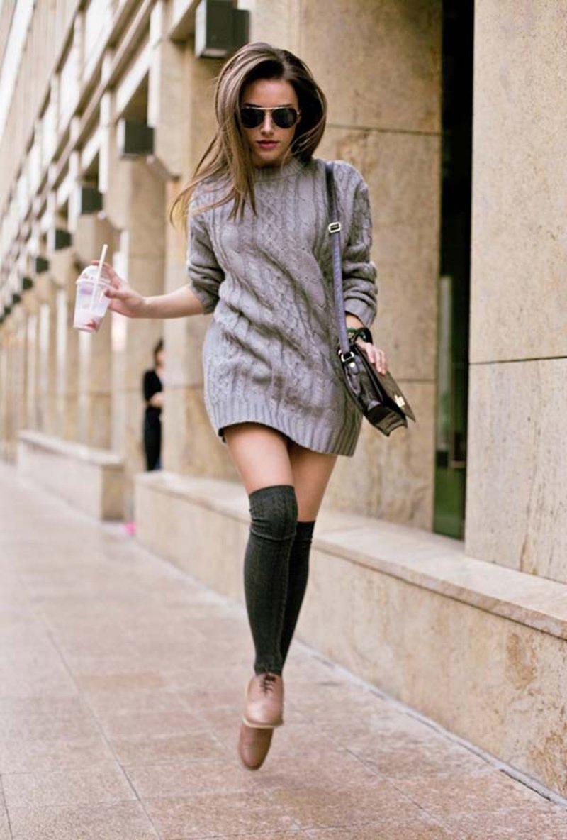 Образы платьев с ботинками