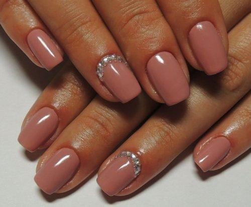 Фото ногти телесный цвет