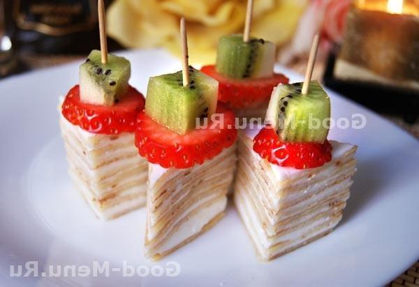 Праздничные канапе с сыром рецепты фото