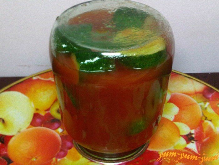 Рецепт огурцов в томатном соке