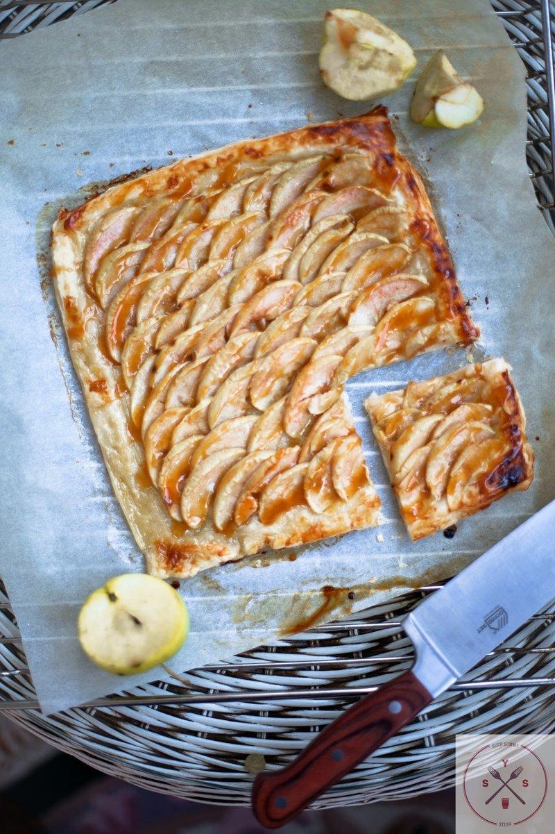 Яблочный карамезированный пирог