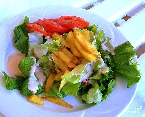 Рецепты салатов с картошкой фри с фото бесплатно